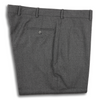Medium Grey Flannel Plain Front Trousers