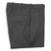 Medium Grey Twill Forward Pleated Trousers