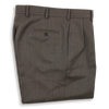 Taupe Twill Forward Pleated Trousers