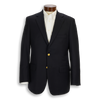 Traditional Andover Fit 100% Wool Basket Weave Navy Blazer