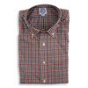 Rust, Navy, and Grey Check Flannel Sport Shirt