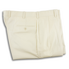 Cream Khyber Cloth Forward Pleated Trousers