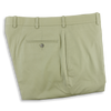Light Olive Khyber Cloth Plain Front Trousers