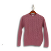 Wool and Cashmere Blend Cable Crew Sweater