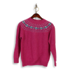 Carnation Wool Fairisle Crew Neck Sweater