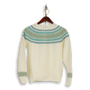 Winter White Wool Fairisle Crew Neck Sweater