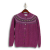 Wool Donegal Women's Fairisle Cardigan