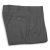 Medium Grey Tropical Wool Forward Pleated Trousers