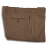 Medium Brown Flannel Plain Front Trousers