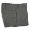Medium Grey Flannel Forward Pleated Trousers