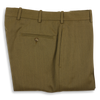 Taupe Twill Plain Front Trousers