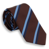 Brown, Light Blue, and Navy Striped Tie