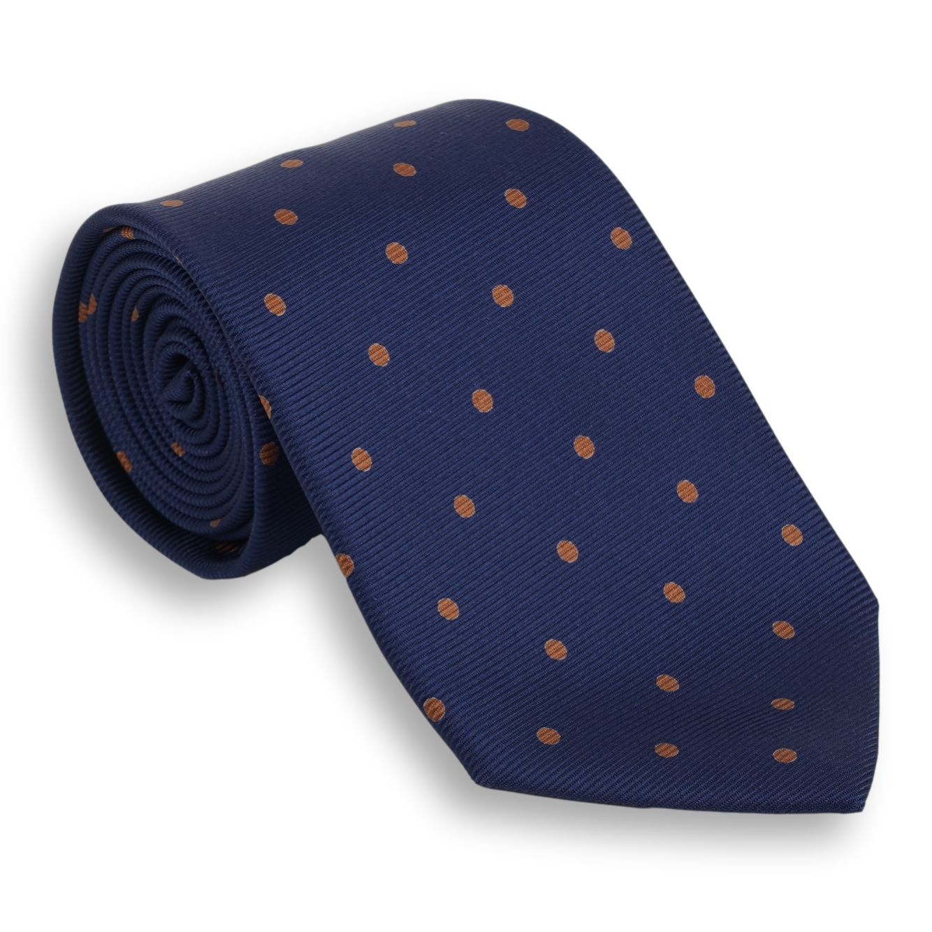 Navy with Polka Dots Silk Tie