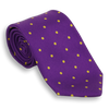 Purple with Gold Polka Dots Silk Tie