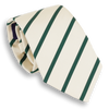 White with Hunter Green Stripe Tie