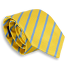 Yellow and Light Blue Reppe Stripe Tie