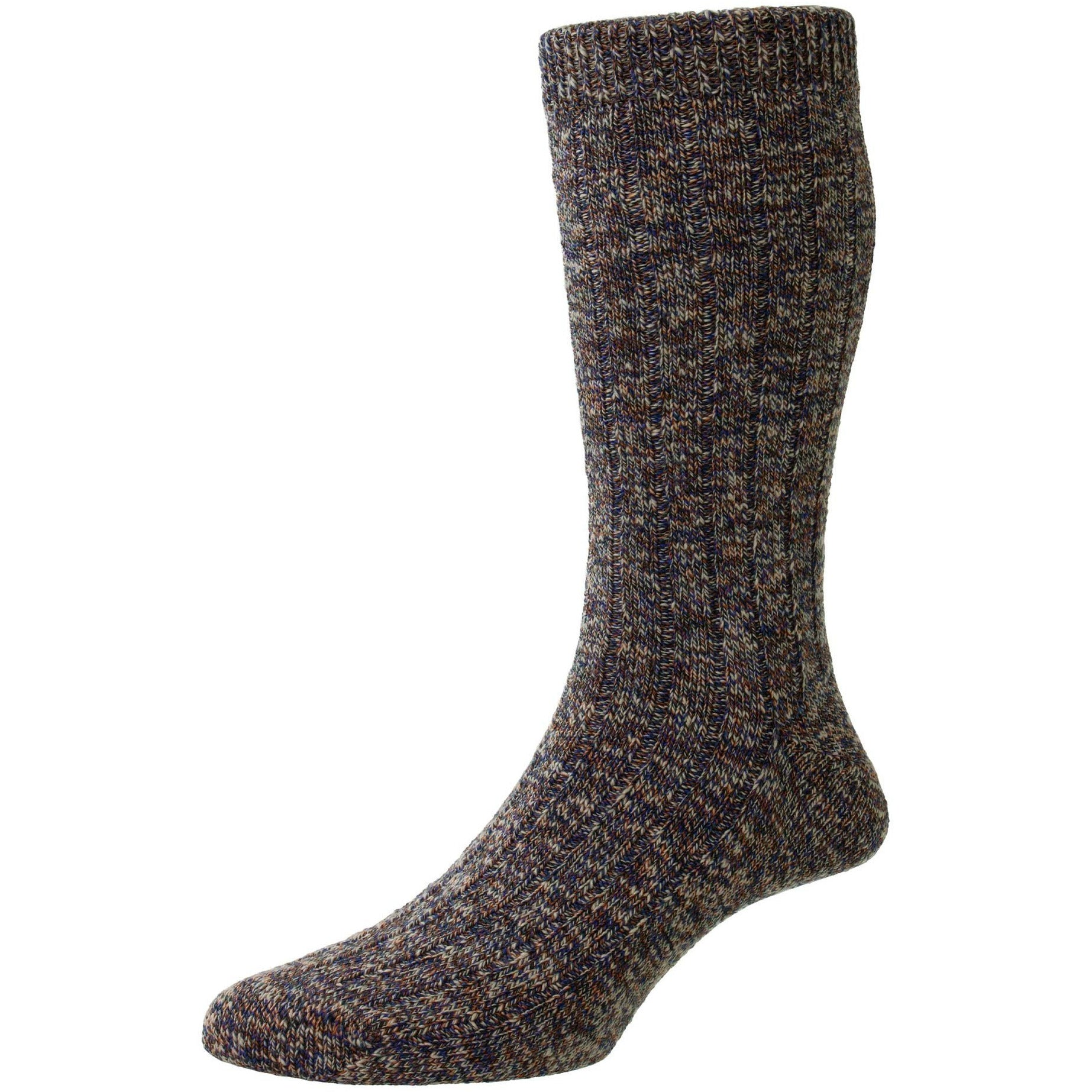 Rye recycled cotton 5x1 Ribbed Mid-Calf Dress Socks