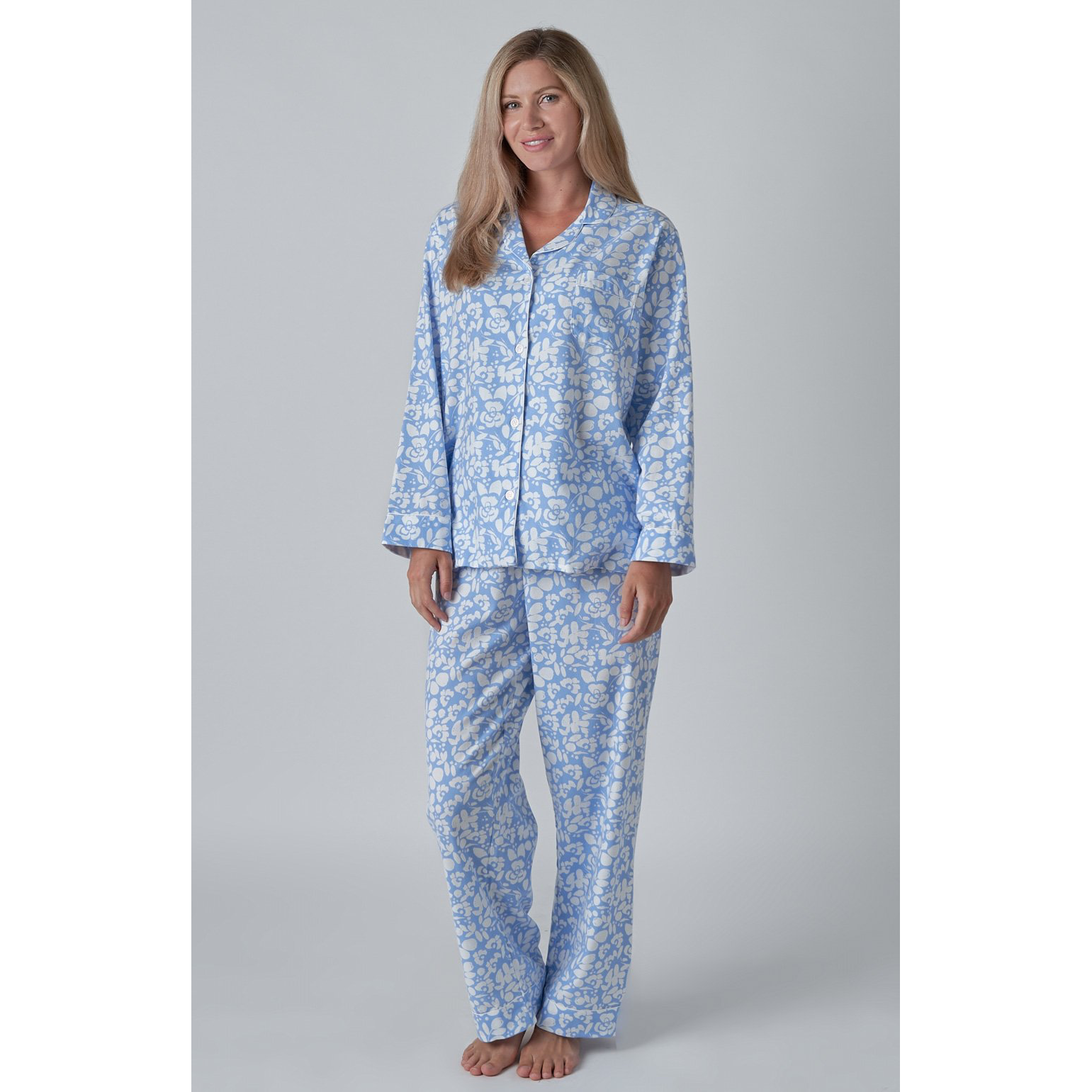 Ladies Brushed Cotton Pyjamas