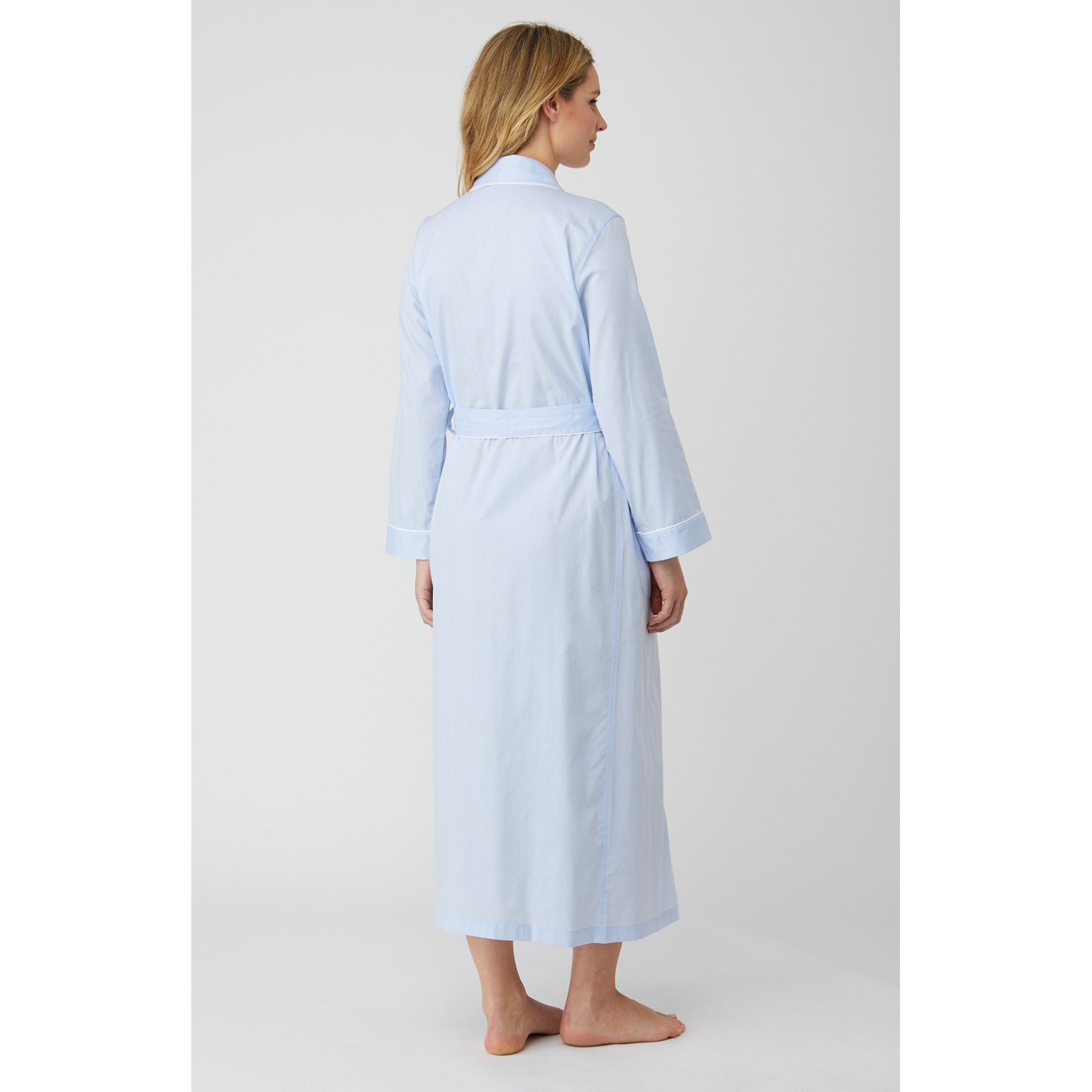 Brushed Cotton Flannel Dressing Gown