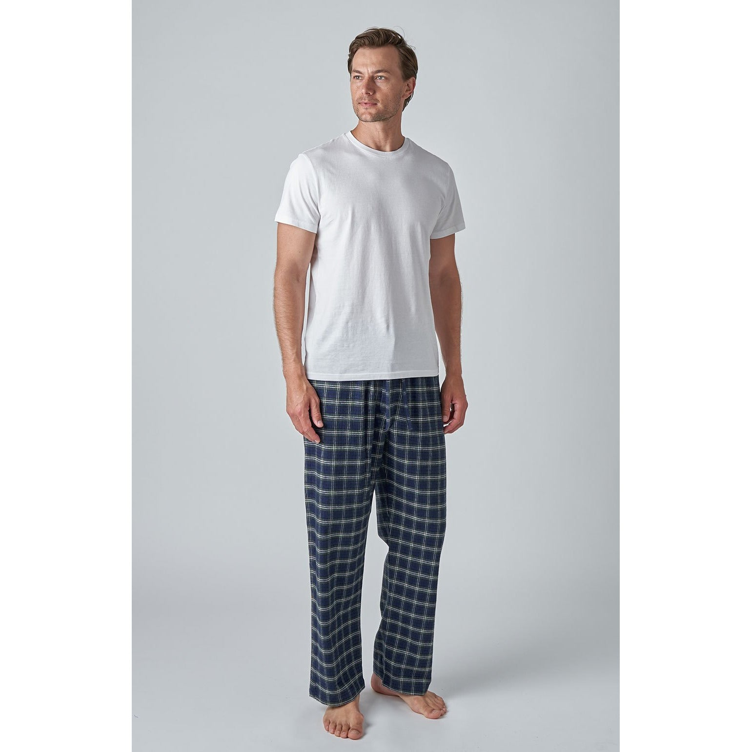 Men's Brushed Cotton Flannel Pyjama Bottoms