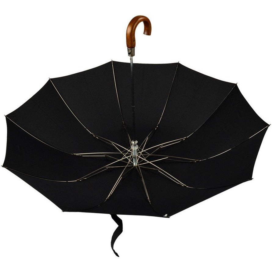 Tel5 Brown Maple Crook Handle Telescopic Fox Umbrella