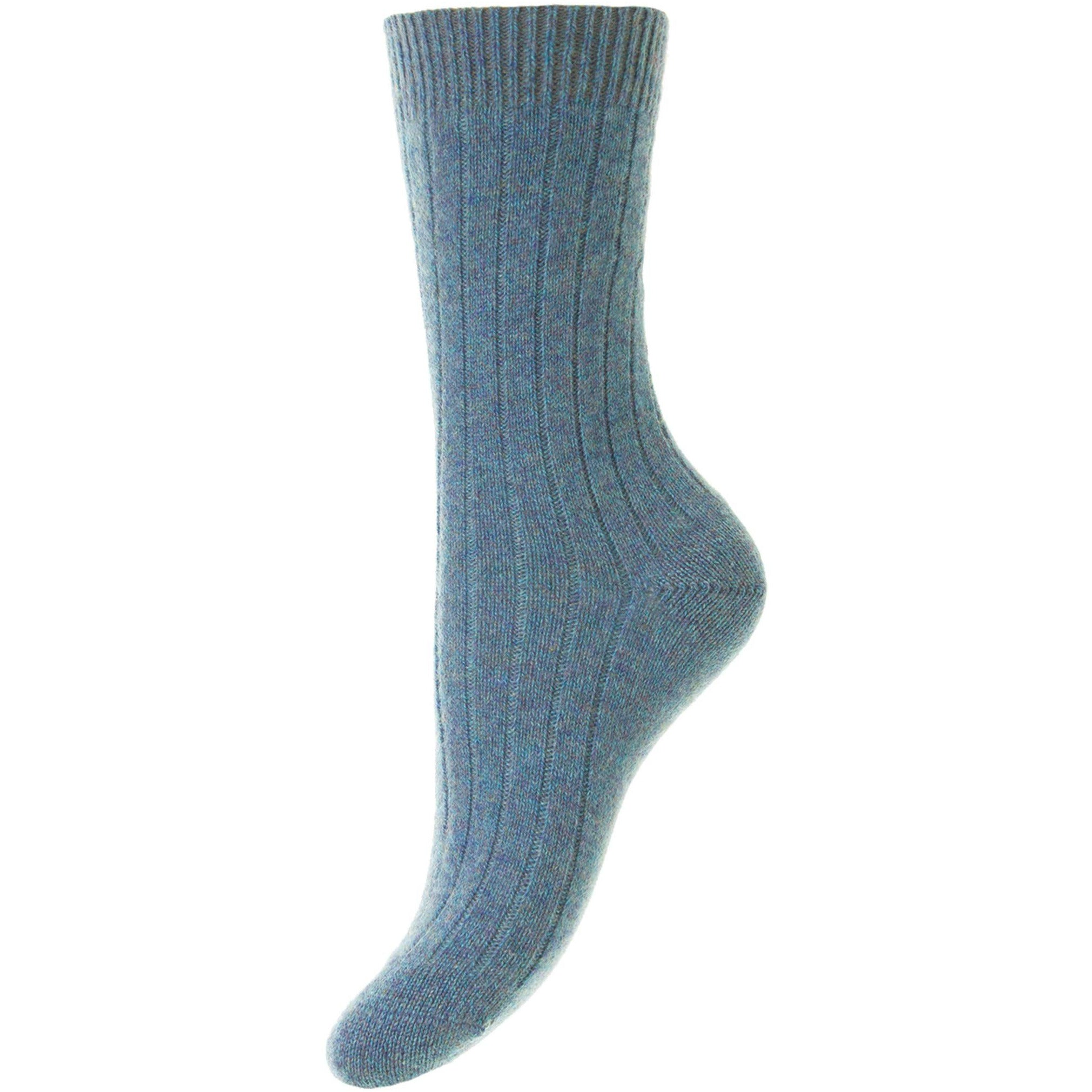 Tabitha 5x1 Rib Cashmere Ladies Dress Socks