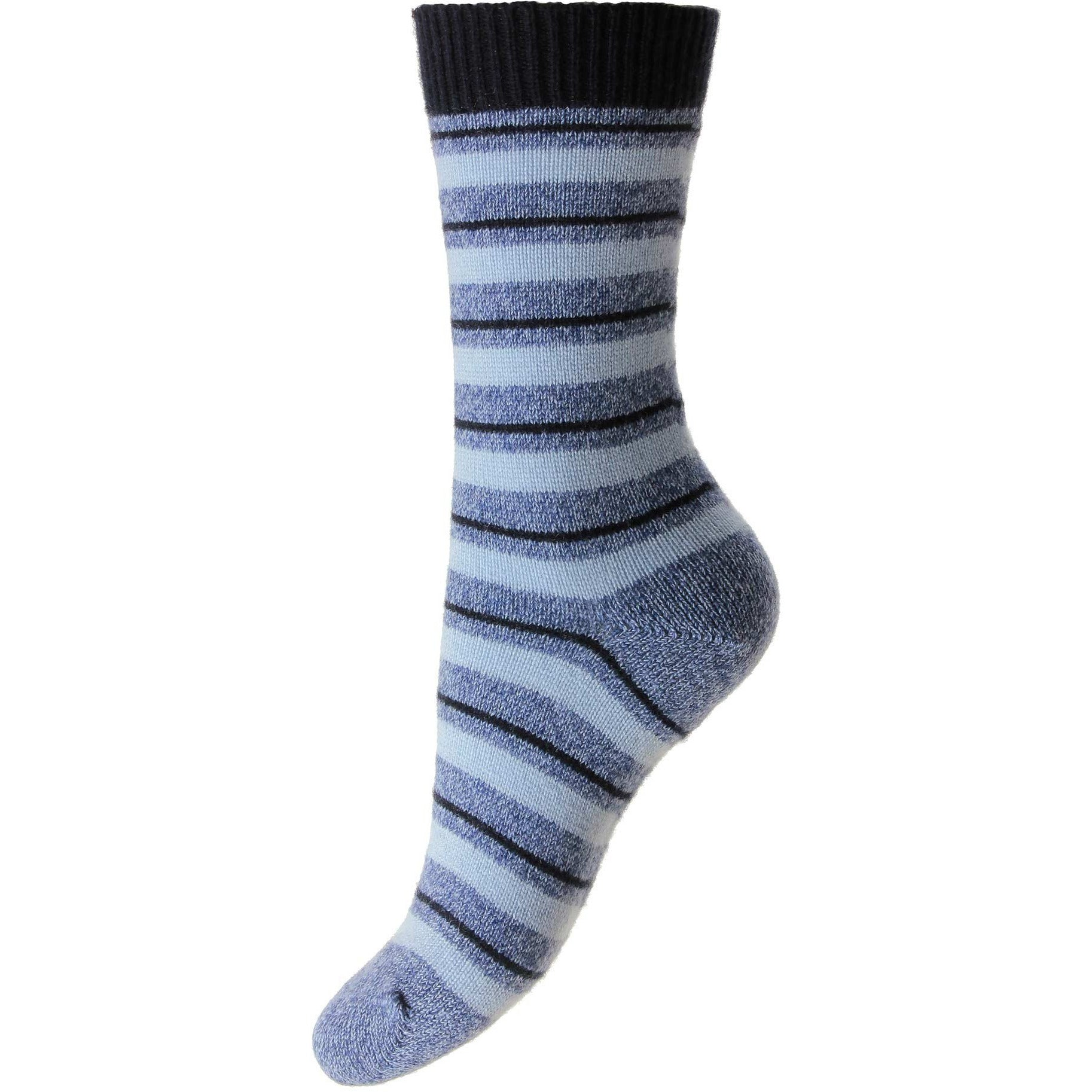 Sally Striped Cashmere Ladies Dress Socks