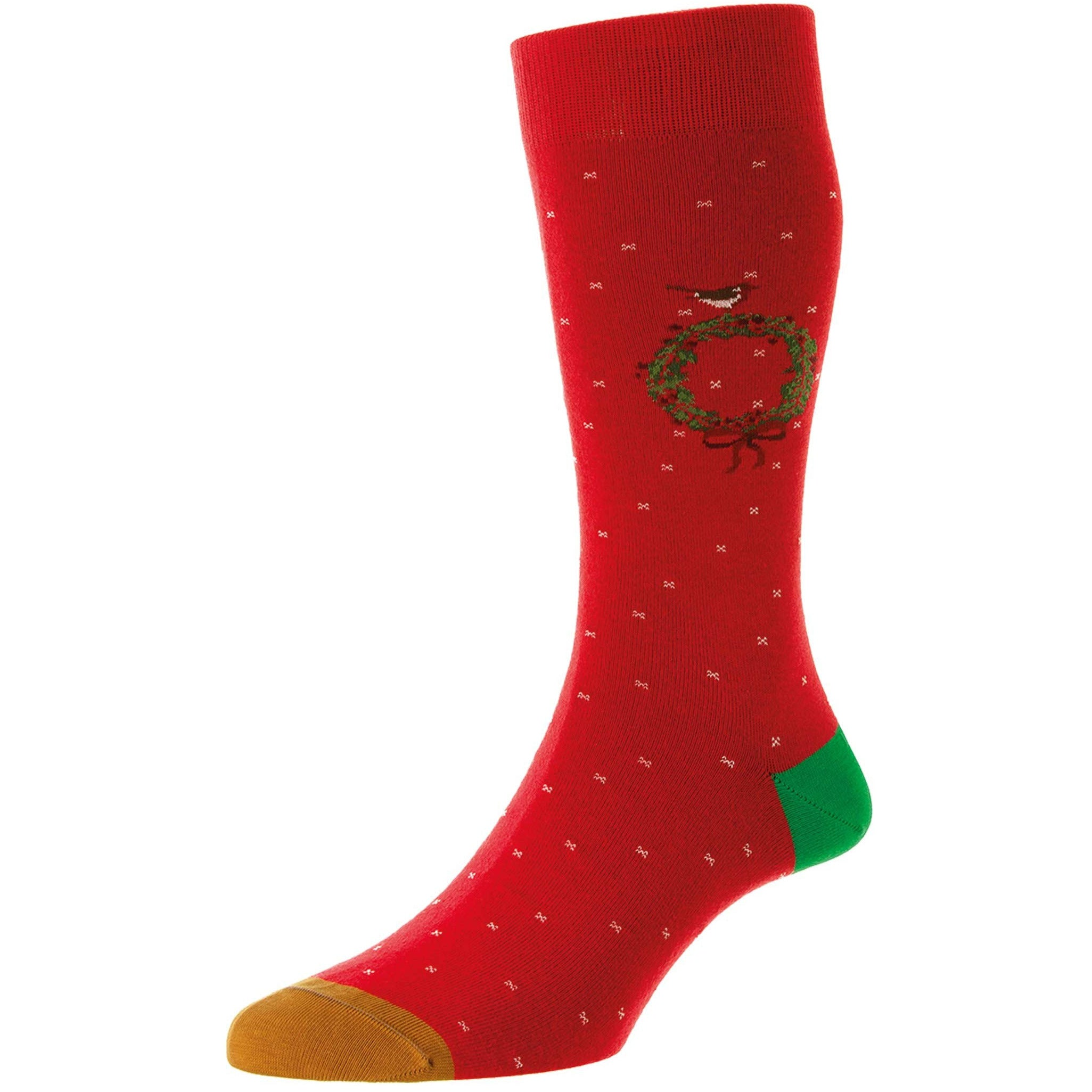 Westgrove Christmas Wreath Motif Cotton Socks