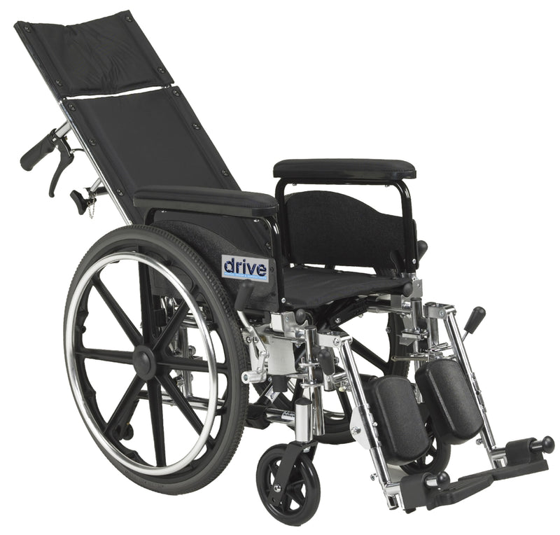 "Viper Plus GT Full Reclining Wheelchair, Detachable Full Arms, 18"" Seat"