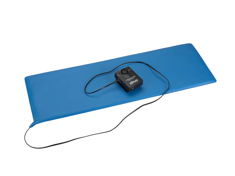 "Pressure Sensitive Bed Chair Patient Alarm, with Reset Button, 11"" x 30"" Bed Pad"