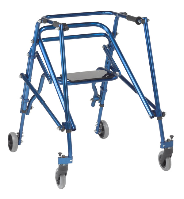 Nimbo 2G Lightweight Posterior Walker with Seat, Large, Knight Blue