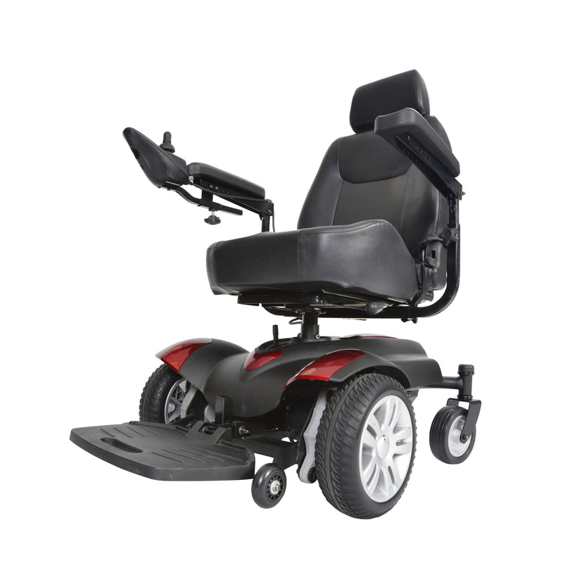 "Titan X16 Front Wheel Power Wheelchair, Full Back Captain's Seat, 18"" x 18"""