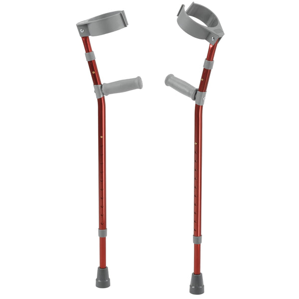 Pediatric Forearm Crutches, Small, Castle Red, Pair