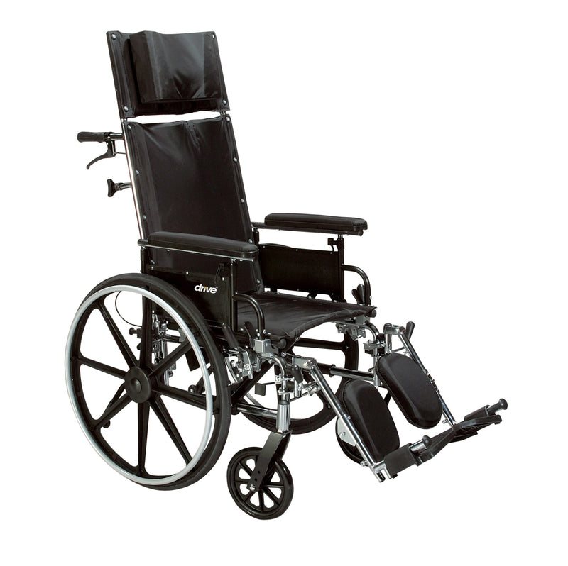 "Viper Plus GT Full Reclining Wheelchair, Detachable Full Arms, 16"" Seat"