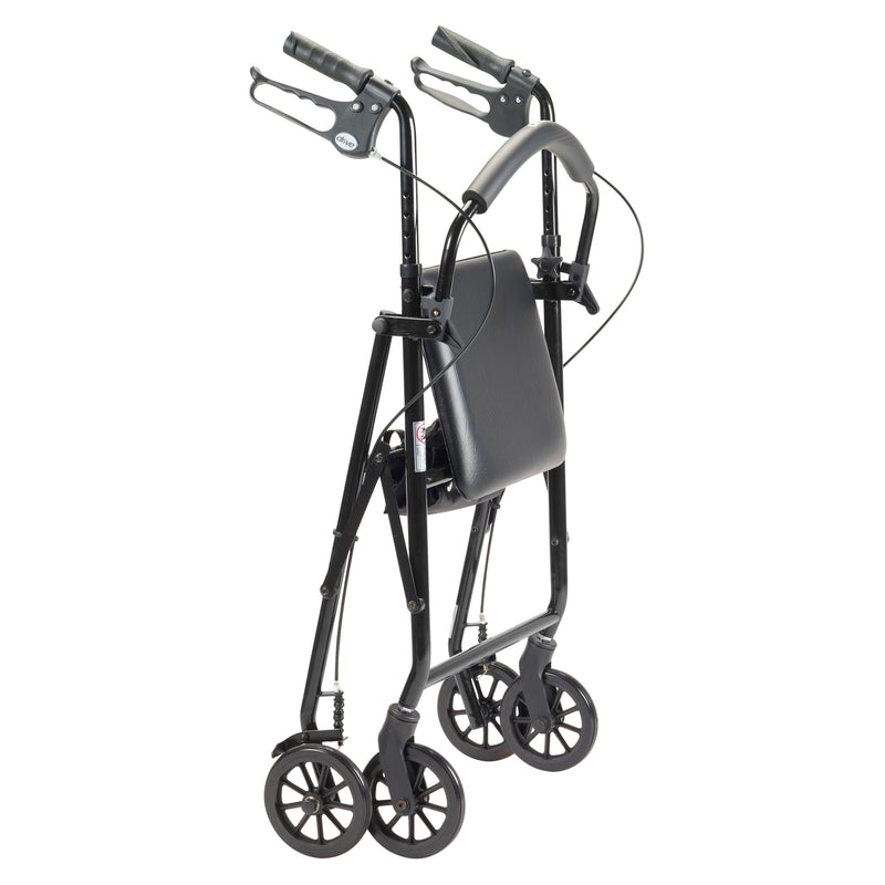 "Rollator Rolling Walker with 6"" Wheels, Black"