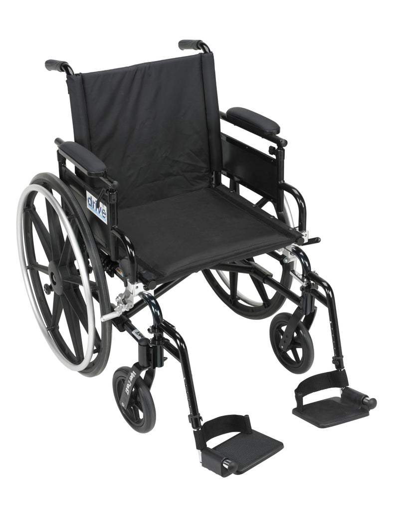 "Viper Plus GT Wheelchair with Flip Back Removable Adjustable Desk Arms, Swing away Footrests, 20"" Seat"