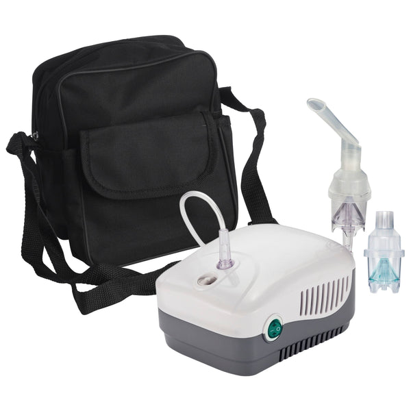 MedNeb Plus Compressor Nebulizer with Carry Bag and Disposable and Reusable Neb Kits
