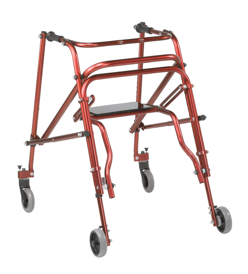 Nimbo 2G Lightweight Posterior Walker with Seat, Large, Castle Red