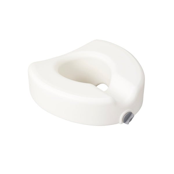 Premium Plastic Raised Toilet Seat with Lock, Elongated