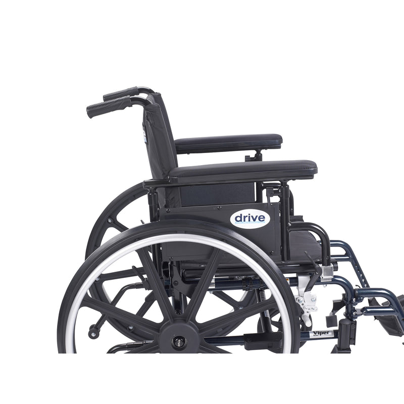 "Viper Plus GT Wheelchair with Flip Back Removable Adjustable Full Arms, Swing away Footrests, 20"" Seat"