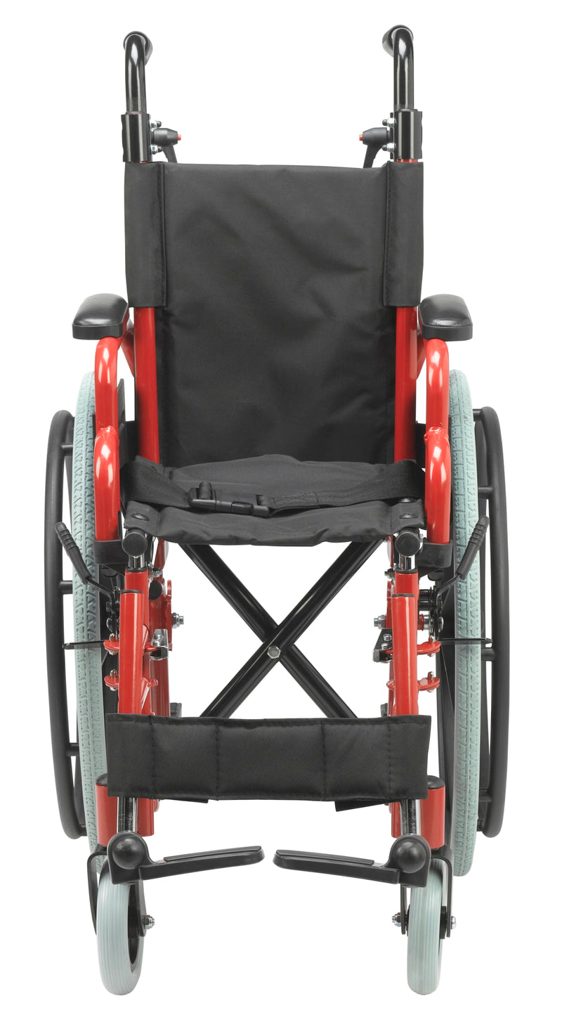 "Wallaby Pediatric Folding Wheelchair, 12"", Fire Truck Red"