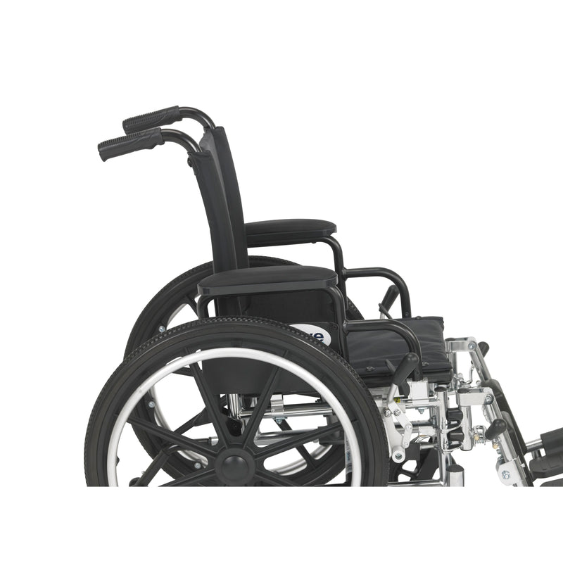 "Viper Wheelchair with Flip Back Removable Arms, Desk Arms, Elevating Leg Rests, 14"" Seat"