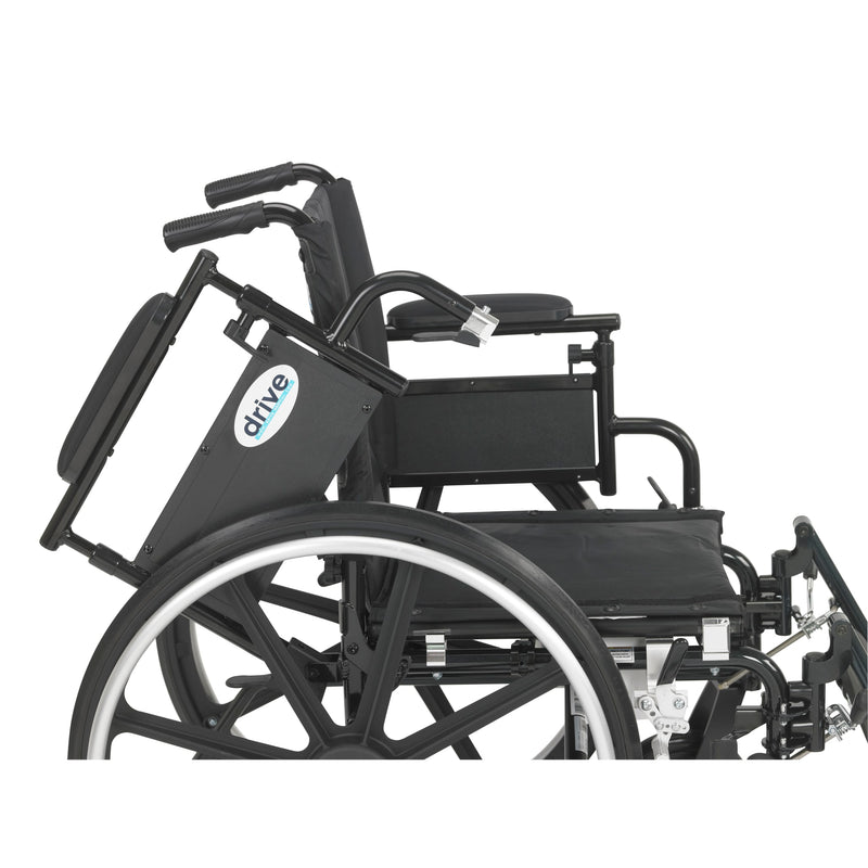 "Viper Plus GT Wheelchair with Flip Back Removable Adjustable Desk Arms, Elevating Leg Rests, 20"" Seat"