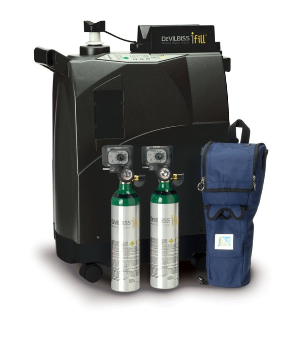 iFill Personal Oxygen Station, Carrying Case, 2 D PD1000 Cylinders