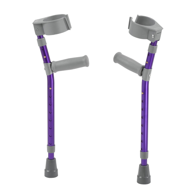 Pediatric Forearm Crutches, Medium, Wizard Purple, Pair