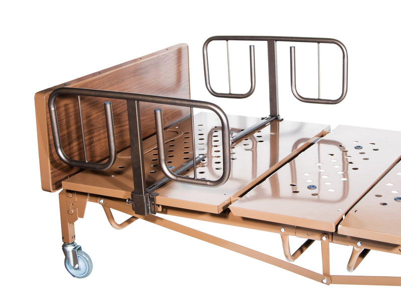 Full Electric Super Heavy Duty Bariatric Hospital Bed with Mattress and 1 Set of T Rails
