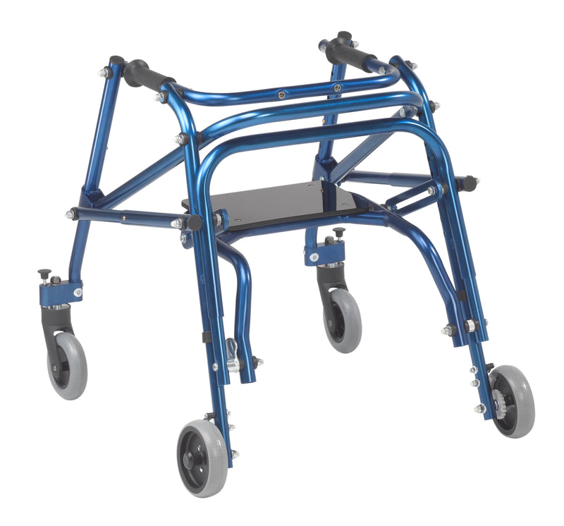 Nimbo 2G Lightweight Posterior Walker with Seat, Small, Knight Blue