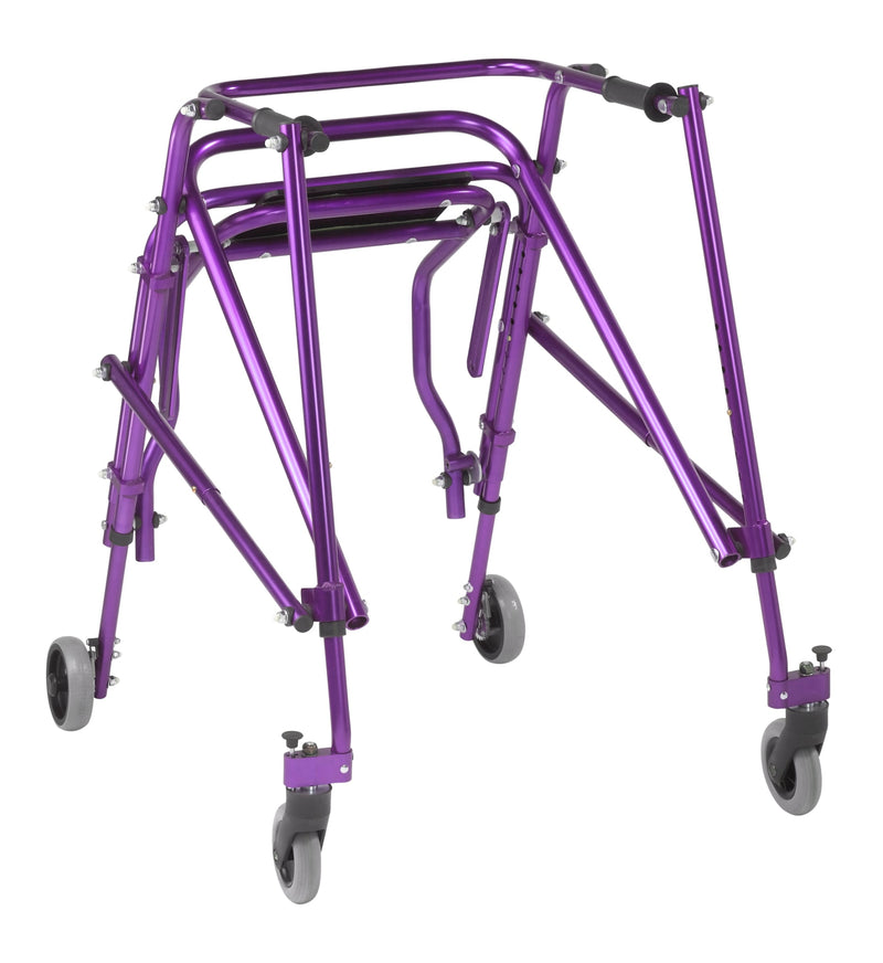 Nimbo 2G Lightweight Posterior Walker with Seat, Large, Wizard Purple