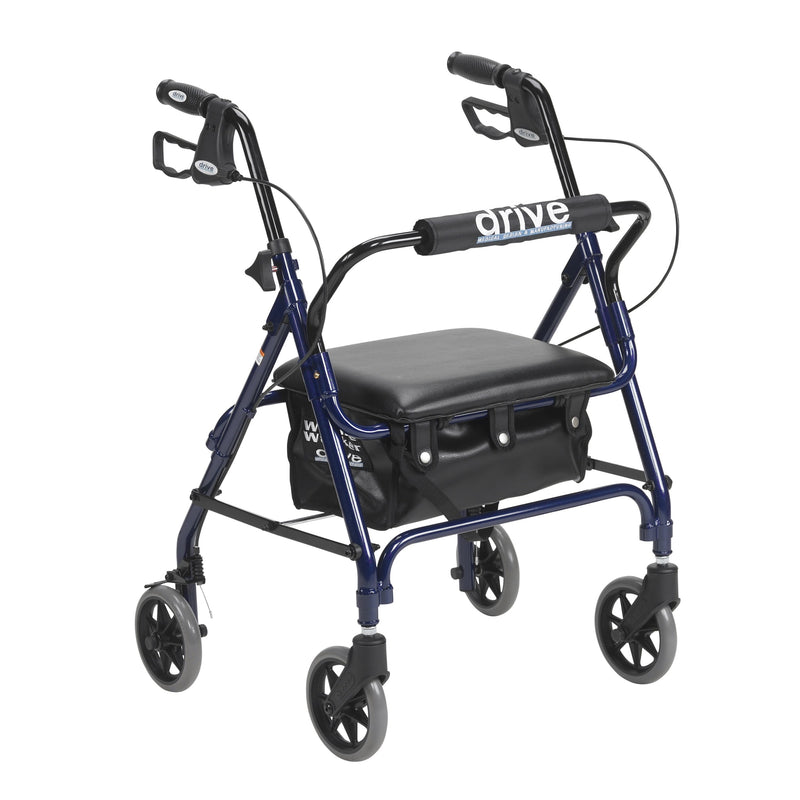 Junior Rollator Rolling Walker with Padded Seat, Blue