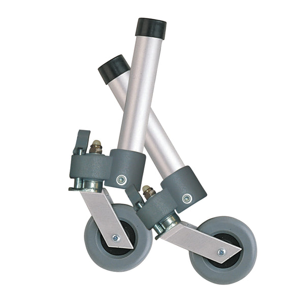 Locking Swivel Walker Wheels with Two Sets of Rear Glides
